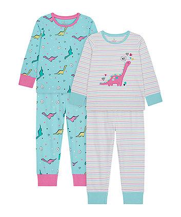 Mothercare Dino Pyjamas - 2 Pack