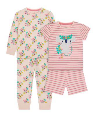 Mothercare Girls Koala Mixed Pyjamas - 2 Pack