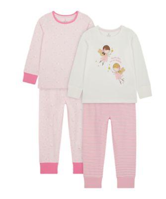 Mothercare Girls Fairy Pyjamas - 2 Pack