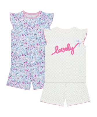 Mothercare Girls 2Pk Lovely Shortie Pyjamas - 2 Pack