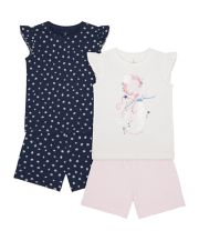 Mothercare Mermaid Shortie Pyjamas - 2 Pack