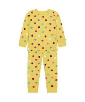 Mothercare Girls Yellow Ladybird EPP Pyjamas