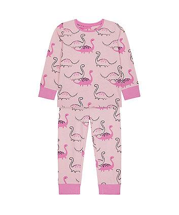 Mothercare Pink Dino Pyjamas