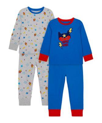 Mothercare Boys Super Hero Pyjamas - 2 Pack