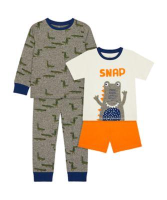 Mothercare Boys Snap Mix Pyjamas - 2 Pack