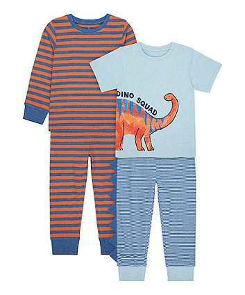 Mothercare Dino Squad Long And Short-Sleeved Pyjamas - 2 Pack