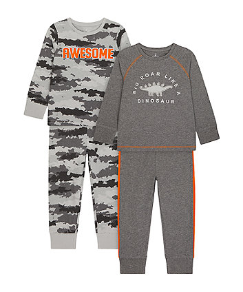 Mothercare Big Roar Like A Dino Pyjamas - 2 Pack