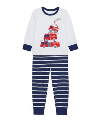 Mothercare Boys 3 Fire Engine EPP Pyjamas