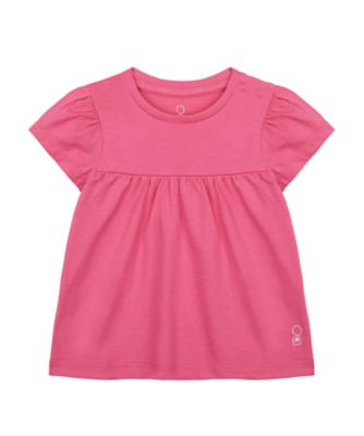 Mothercare Wardrobe Essentials Light Pink Short Sleeve T-Shirt