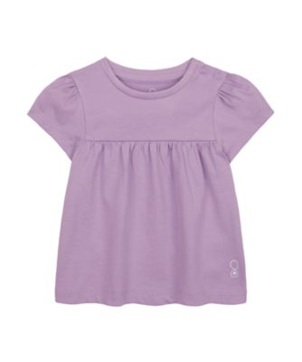 Mothercare Wardrobe Essentials Lilac Short Sleeve T-Shirt