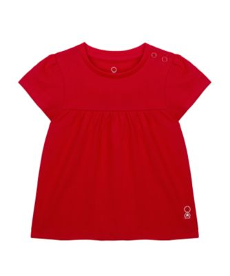 Mothercare Wardrobe Essentials Red Short Sleeve T-Shirt