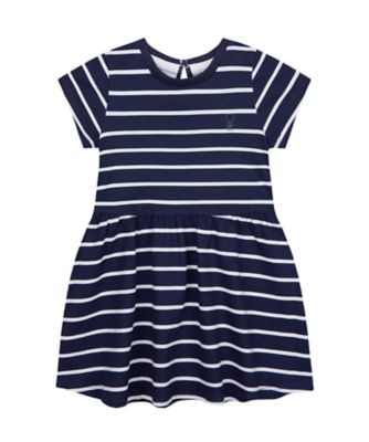 Mothercare Wardrobe Essentials Navy Stripe Short Sleeve Dress