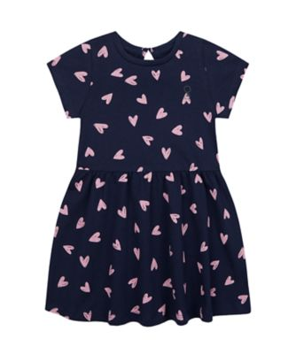 Mothercare Wardrobe Essentials Navy Allover Print Short Sleeve Dress