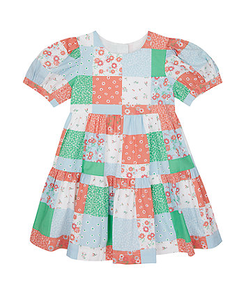 Mothercare Patchwork Tiered Dress