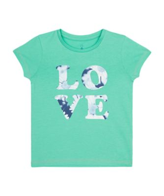 Mothercare Urban Cowgirl Green Love Uber Short Sleeve T-Shirt