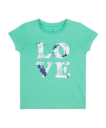 Mothercare Green Love T-Shirt