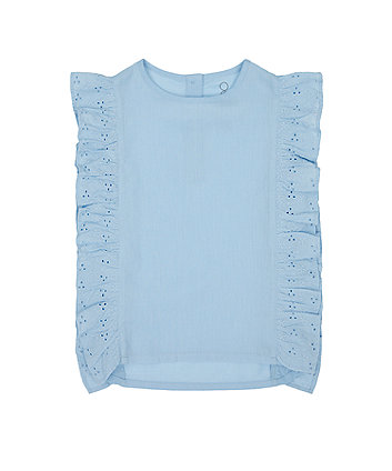 Mothercare Blue Broderie Blouse