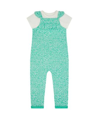 Mothercare Urban Cowgirl Green Allover Print Jumpsuit With T-Shirt