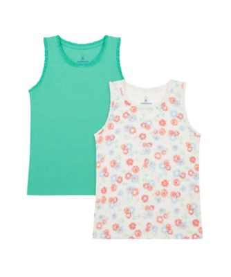 Mothercare Urban Cowgirl Allover Print And Green Vests - 2 Pack