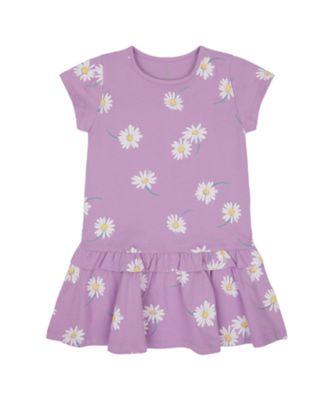 Mothercare Flower Power Daisy Allover Print Dropwaist Jersey Dress