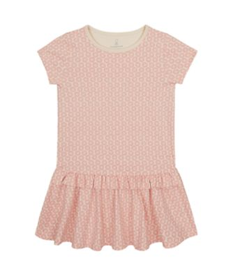 Mothercare Sienna Skies Pink Allover Print Dropwaist Jersey Dress