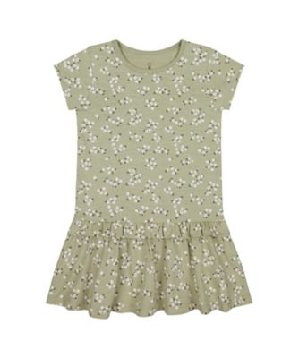 Mothercare Sienna Skies Khaki Floral Dropwaist Jersey Dress