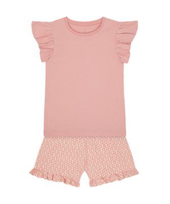 Mothercare Sienna Skies Pink Allover Print T-Shirt And Short Set