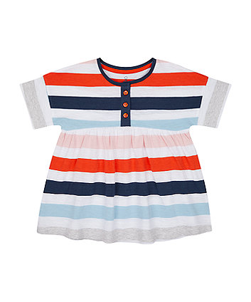 Mothercare Striped Smock T-Shirt