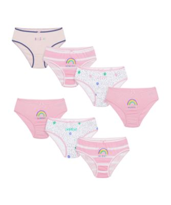 Mothercare Girls Pastel Days Of The Week Briefs - 7 Pack