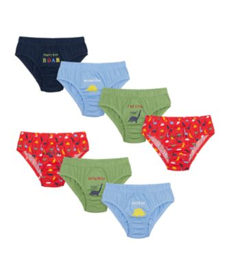 Mothercare Boys Dinosaur Days Of The Week Briefs - 7 Pack