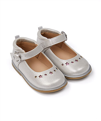 Mothercare First Walker Silver Star Shoes