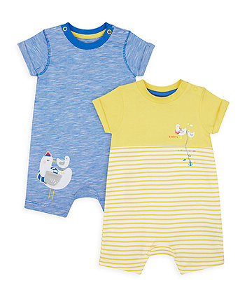 Mothercare Seaside Rompers - 2 Pack