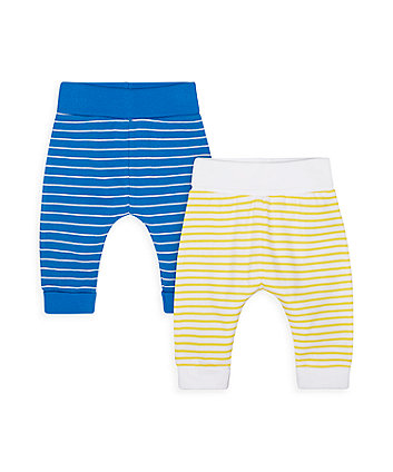 Mothercare Seaside Striped Joggers - 2 Pack