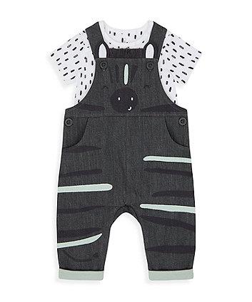 Little Zebra Bibshorts And Bodysuit Set [SS21]