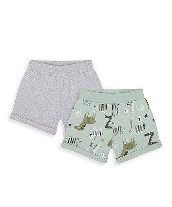 Mothercare Little Zebra Jersey Shorts - 2 Pack