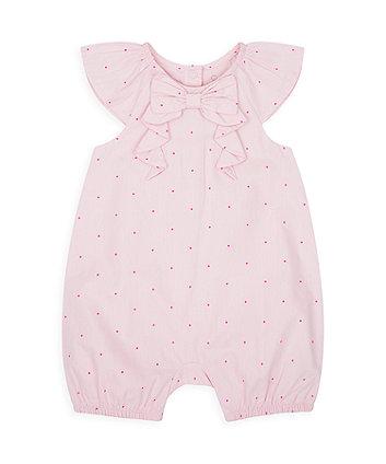 Mothercare Pink Spot Romper