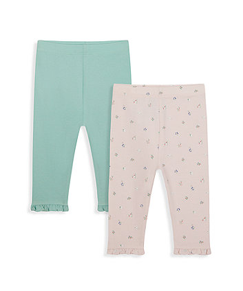Mothercare Floral And Mint Leggings