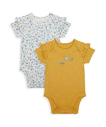 Mothercare Little Bird Bodysuits - 2 Pack