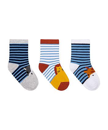 Animal Stripe Socks - 3 Pack [SS21]