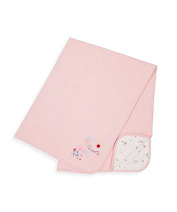 Mothercare Pink Little Garden Jersey Shawl