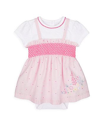 Mothercare Pink Spot Romper Dress