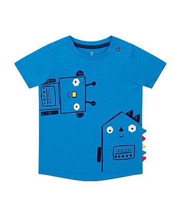 Mothercare Blue Mr Robot T-Shirt