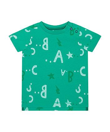 Mothercare Green Abc T-Shirt