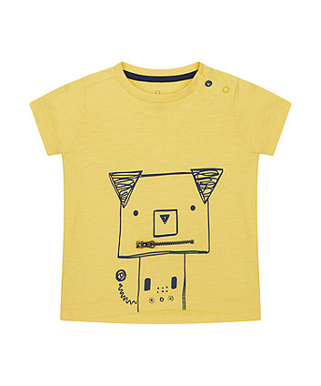 Mothercare Yellow Novelty Zip T-Shirt