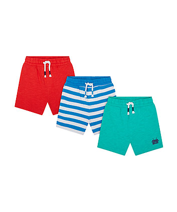 Mothercare Robot Shorts - 3 Pack