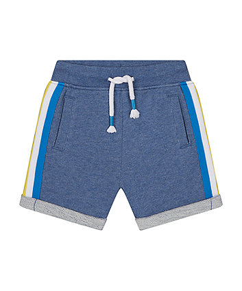 Mothercare Denim Marl Jersey Shorts With Stripes