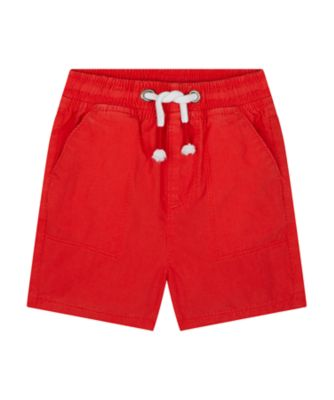 Mothercare We Are The Robots Red Poplin Short