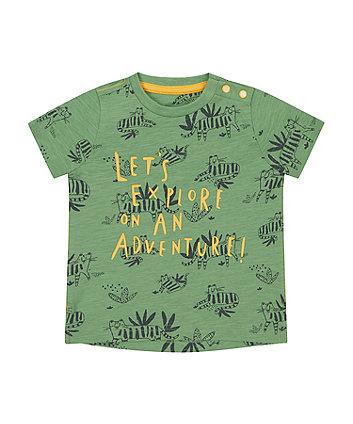 Mothercare Khaki Let'S Explore T-Shirt