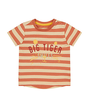 Mothercare Striped Big Tiger Smiles T-Shirt