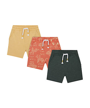Mothercare Stay Wild Shorts - 3 Pack